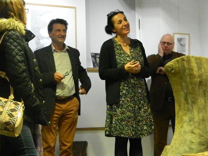 Découvrez les photos du vernissage de l'exposition «Corps de lettres» d'Anael Chadli à La…