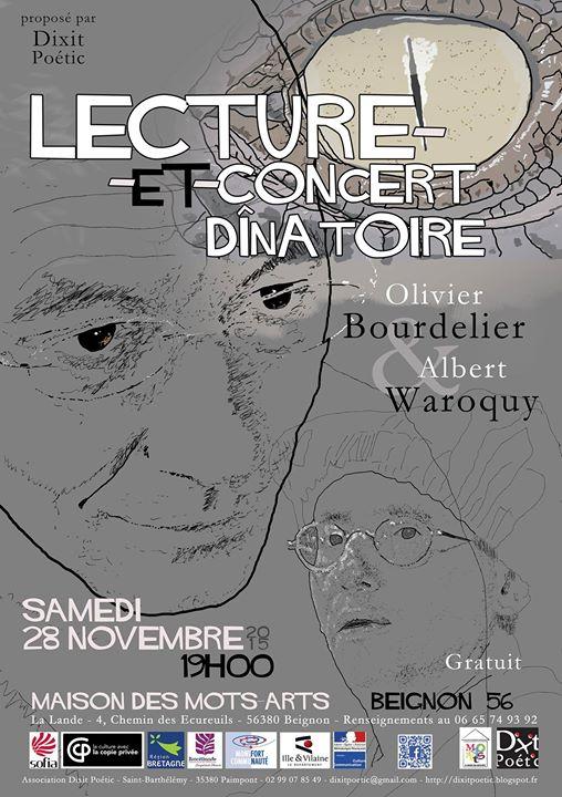 Dans l'ambiance chaleureuse de la Maison des Mots-Arts à Beignon, venez découvrir la lecture-et-concert…