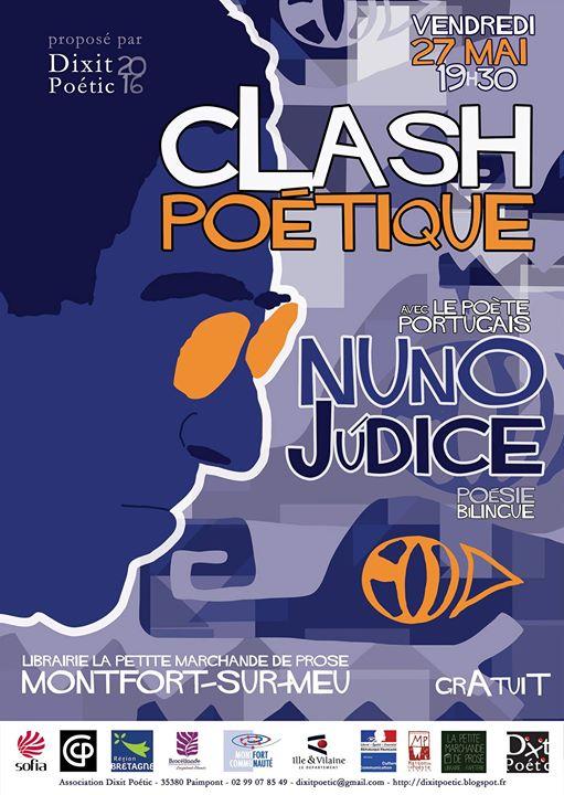 Nous avons le plaisir de vous inviter au Clash poétique avec le poète portugais…