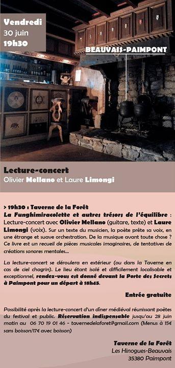 Festival Et Dire et Ouïssance 2017 Vendredi 30 juin 19h30 – Taverne de la…