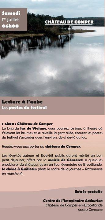 Festival Et Dire et Ouïssance 2017 Samedi 1er juillet 6h – Château de Comper…