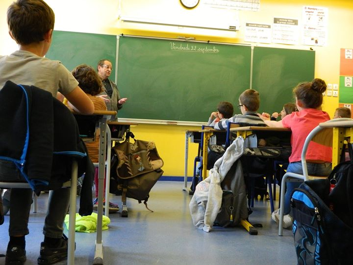 Rencontres scolaires le vendredi 22 septembre avec Bernard Bretonnière. Merci aux élèves et enseignantes…