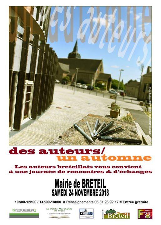 Une rencontre d'auteurs en Brocéliande, à Breteil, ci voyez l'affiche