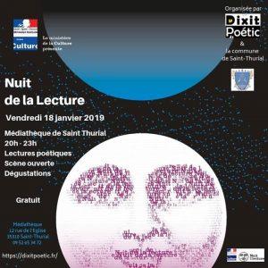 Dixit Poétic organise une Nuit de la Lecture le 18 janvier, au programme :…