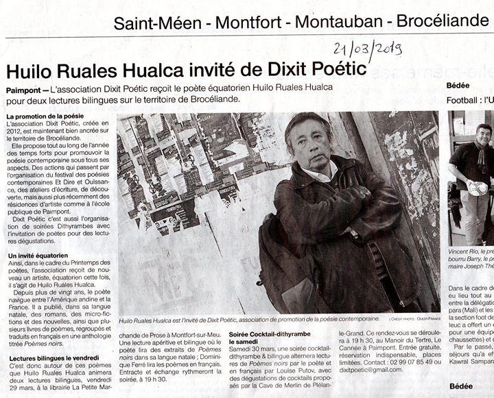 Première lecture de Huilo Ruales Hualca ce jour d'huy à La Petite Marchande de…