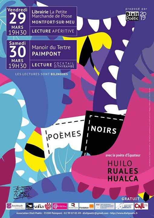 """Deux lectures en Brocéliande du poète équatorien Huilo Ruales Hualca, auteur de """"Poèmes noirs""""…"""